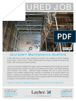 Shutdown Maintenance Scaffold