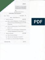 Industrial Management- EHU 601