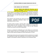 Manual Formación de Auditores Internos de Calidad Con Base en Iso 19011 2011