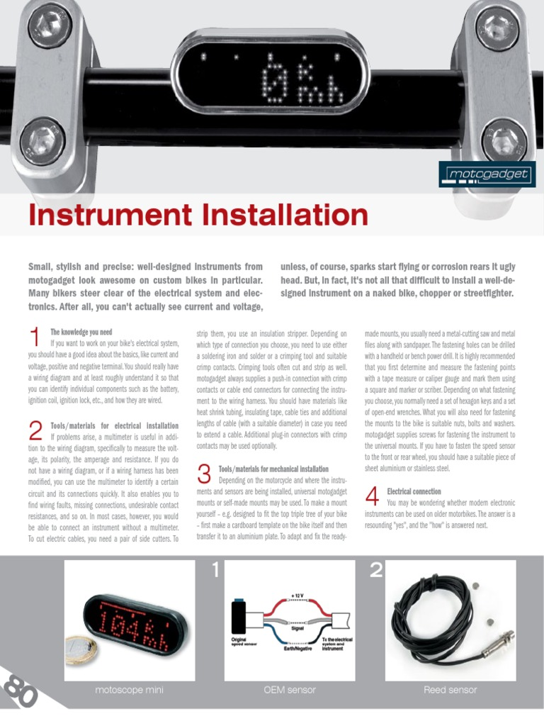 Tipp23 S80 81 Instrument Installation En Ignition System Custom Motorcycle Wiring Diagram Electrical