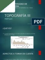 Topografía III Perfiles
