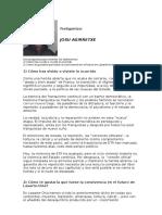 Testimonio de JOSU AGIRRETXE para Bizikidetza Taldea Lasarte-Oria