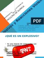 Explosivos y Reacciones Violentas Definitiva