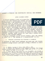 João Aloísio Lopes - Sobre a Noção de Contrato Social em Hobbes (Revista Discurso 10)