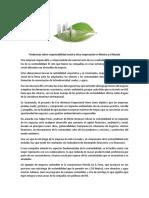 Tendencias Sobre Responsabilidad Social y Ética Empresarial