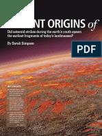 Violent Origins of Continents