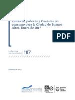 Líneas de pobreza y Canastas de consumo para la Ciudad de Buenos Aires. Enero de 2017
