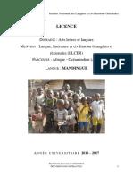 Formation Mandingue Licence Llcer 2016 2017 0