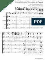 Hino CEFET-PR Coro e Piano