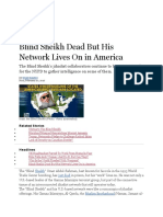 Blind Sheikh Dead but His Network Lives on in America