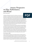 MCCONACHIE, Bruce. an Evolutionary Perspective on Play, Performance, And Ritual