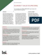OHSAS 18001 ProdSheet Español