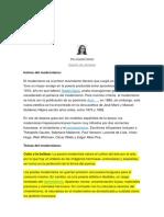 El Modernismo Literario Hispanoamericano