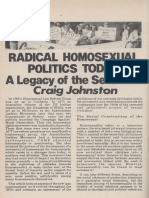Radical Homosexual Politics Today- A Legacy of the Seventies