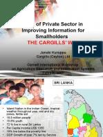 Case Study for Sri Lanka-Cargills for Smallholders