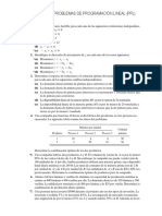 Problemas de Programación Lineal (PPL)