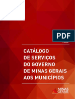 Catalogo de Serviços Do Governo de Minas Gerais Aos Municípios