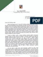 Dopis ministra financí Babiše premiéru Sobotkovi (20. 02. 2017)