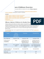 VMware VSphere 6 Editions Overview