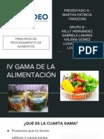 IV Gama de la alimentación