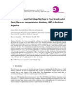 Use of High Content Fish Silage Wet Food in Final Growth out of Pacú in Northeast Argentina