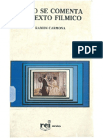 Como se comenta un texto fílmico (Ramón Carmona)