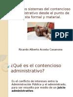Diversos Sistemas Del Contencioso Administrativo