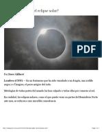 ¿Dónde puedo ver el eclipse solar? – CNNEspañol.com - CNN.com Blogs