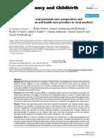 antenatal and postnatal care