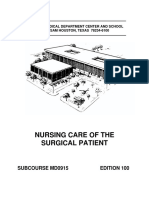 Nursing Care of the Surgical Patient