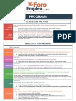 Programa 16 Foro de Empleo de La Universidad de Oviedo