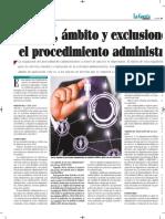 Objeto Ambito Exclusión en El Procedimiento Administrativo de Bolivia - Autor José María Pacori Cari - La Gaceta Jurídica