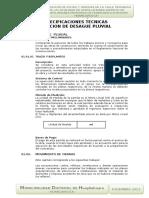 2.3.-Especificaciones Tec. Desague Pluvial