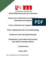 Organización de La Sociedad Griega
