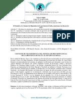 6818 Ley Convenio de Transferencia Jubilacion Provincia de Salta