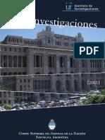 CSJN - Instituto de Investigaciones y de Referencia Extranjera - Medio Ambiente 2011