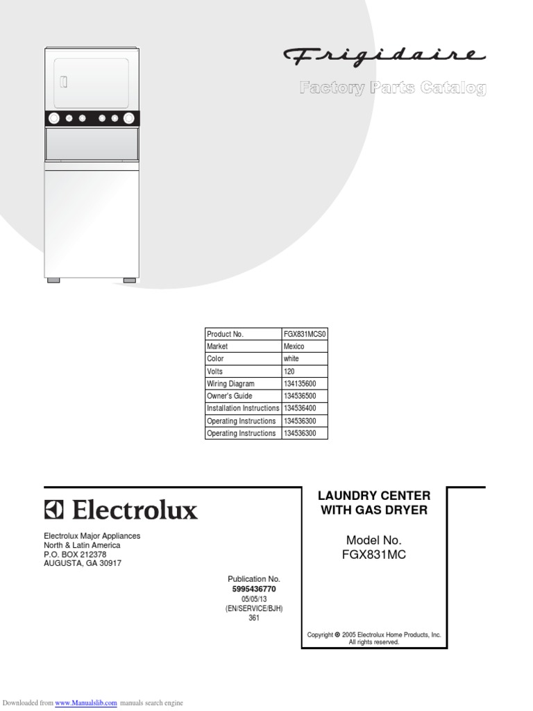 Electrolux Fgx831cs1 | Washing Machine | Manufactured Goods on