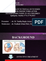 Long Term Functional Outcome in Hemispherectomy Children