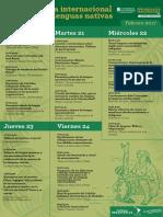 Programación Semana Internacional de las Lenguas Nativas Universidad de Antioquia Del 20 al 25 de febrero