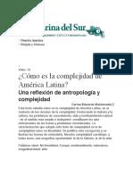 Carlos E. Maldonado. Cómo Es La Complejidad de América Latina