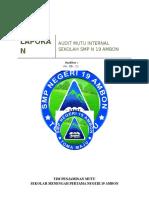 LAPORAN AUDIT MUTU INTERNAL SMP NEGERI 19 AMBON siap.docx