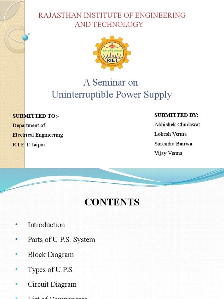 Ups Project Power Inverter Transistor Uninterruptible Supply Basic Circuit Diagram
