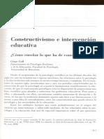 Constructivismo e intervención educativa. Como enseñar lo que se ha de construir..pdf