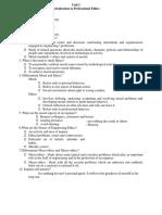 Professional Ethics notes unit1-5