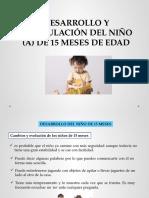 Diapositivas de Niño de 15 Meses