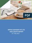 Ripples Advisory Pvt. ltd. -Daily Equity Report of 21st Feb 2017