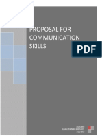 Proposal for Communication Skills