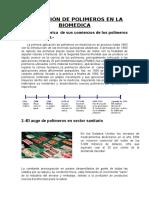 Aplicacion de Los Polimeros en La Biomedica - Terminado