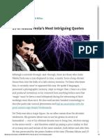 15 of Nikola Tesla's Most Intriguing Quotes