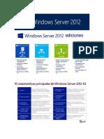 Ediciones Windos Server 2012 y 2016